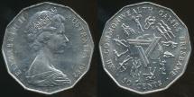 World Coins - Australia, 1982 50 Cents, Elizabeth II (XII Commonwealth Games - Brisbane) - Uncirculated