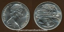 World Coins - AUSTRALIA - 1980 20c, Elizabeth II - Unc (Ex Mint Roll)