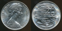 World Coins - Australia, 1981 20 Cents, Elizabeth II - Uncirculated