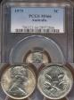 World Coins - Australia, 1979 5 Cents, Elizabeth II - PCGS MS66
