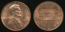 World Coins - United States, 1973 One Cent, 1c, Lincoln Memorial - Uncirculated