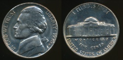 World Coins - United States, 1970-S 5 Cents, Jefferson Nickel - Uncirculated