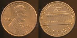 World Coins - United States, 1978-D One Cent, Lincoln Memorial - Uncirculated