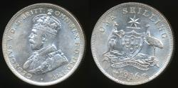 World Coins - Australia, 1916(m) One Shilling, 1/-, George V (Silver) - Uncirculated