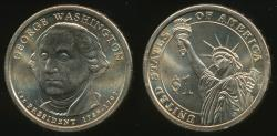 World Coins - United States, 2007-D George Washington Presidential Dollar, $1 - Uncirculated