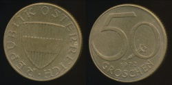 World Coins - Austria, Republic, 1972 50 Groschen - Uncirculated