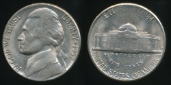 World Coins - United States, 1957-D 5 Cents, Jefferson Nickel - Uncirculated