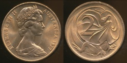World Coins - Australia, 1977 Canberra 2 Cent, Elizabeth II - Uncirculated