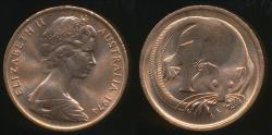 World Coins - Australia, 1974 One Cent, 1c, Elizabeth II - Uncirculated
