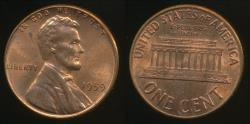 World Coins - United States, 1959 One Cent, 1c, Lincoln Memorial - Uncirculated