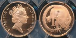 World Coins - Australia, 1988 One Cent, 1c, Elizabeth II - PCGS PR69DCAM (Proof)