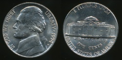 World Coins - United States, 1974-D 5 Cents, Jefferson Nickel - Uncirculated