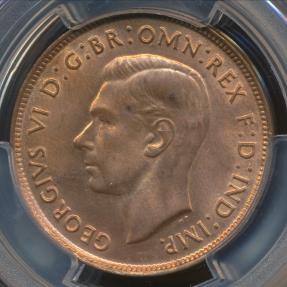 World Coins - Australia, 1948(m) One Penny, 1d, George VI - PCGS MS64RB (Ch-Unc)
