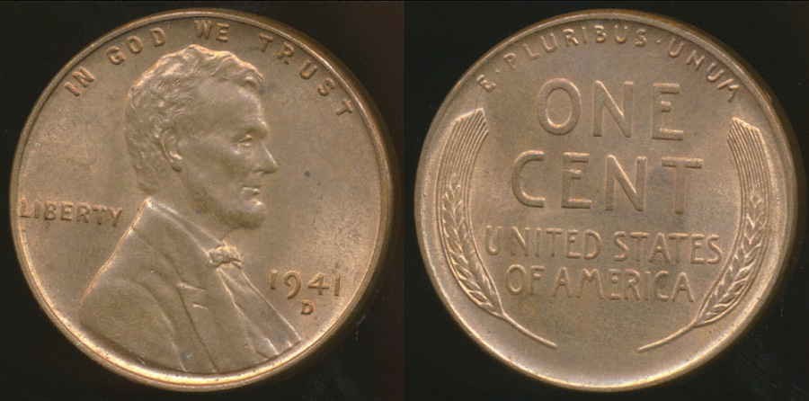 World Coins - United States, 1941-D One Cent, Lincoln Wheat - Uncirculated
