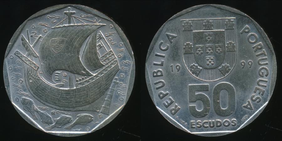 World Coins - Portugal, Republic, 1999 50 Escudos - Uncirculated