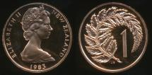 World Coins - New Zealand, 1983 One Cent, 1c, Elizabeth II - Proof