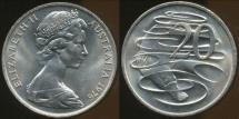 World Coins - Australia, 1976 Canberra 20 Cent, Elizabeth II - Choice Uncirculated