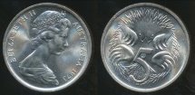 World Coins - Australia, 1973 5 Cents, Elizabeth II - Choice Uncirculated