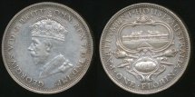 World Coins - Australia, 1927 Florin, 2/-, George V (Canberra)(Silver) - Extra Fine