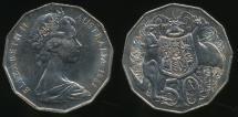 World Coins - Australia, 1981 Fifty Cents, 50c, Elizabeth II - Uncirculated