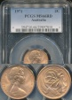 World Coins - Australia, 1971 2 Cents, Elizabeth II - PCGS MS66RD