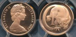 World Coins - Australia, 1983 One Cent, 1c, Elizabeth II - PCGS PR69DCAM (Proof)