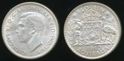 World Coins - Australia, 1940 Florin, 2/-, George VI (Silver) - Uncirculated