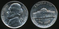 World Coins - United States, 1988-D 5 Cents, Jefferson Nickel - Uncirculated