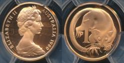 World Coins - Australia, 1980 One Cent, 1c, Elizabeth II - PCGS PR69DCAM (Proof)
