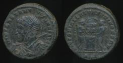 Ancient Coins - CONSTANTINE I, (Bronze) AE-Follis, AD 307-337, Struck 318-319 AD (18mm, 3.95 gm) Ticinum mint - RIC VII 83