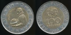 World Coins - Portugal, Republic, 1989 100 Escudos - Uncirculated