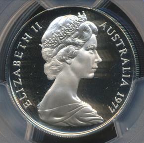 World Coins - Australia, 1977 Twenty Cents, 20c, Elizabeth II - PCGS PR69DCAM (Proof)
