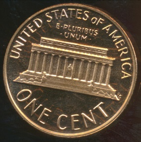 World Coins - United States, 1978-S One Cent, Lincoln Memorial - Proof