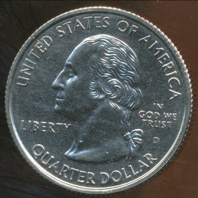 World Coins - United States, 1999-D Quarter Dollar, Washington (State - Connecticut) - Uncirculated
