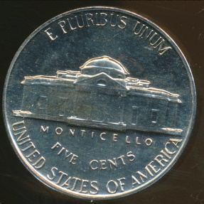 World Coins - United States, 1961 5 Cents, Jefferson Nickel - Proof
