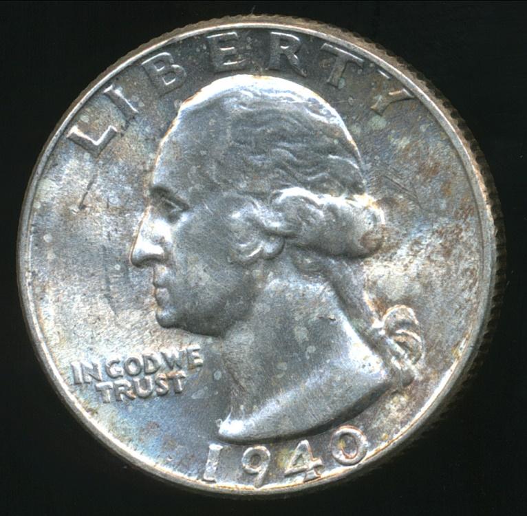United States 1940 Quarter Dollar Washington Silver