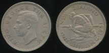 World Coins - New Zealand, 1951 Shilling, 1/-, George VI - Extra Fine
