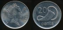 Fiji, Republic, 2009 20 Cents, Elizabeth II - Uncirculated