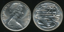 World Coins - Australia, 1978 Canberra 20 Cent, Elizabeth II - Choice Uncirculated