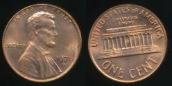 World Coins - United States, 1971-D One Cent, 1c, Lincoln Memorial - Uncirculated