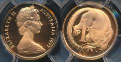 World Coins - Australia, 1977 One Cent, 1c, Elizabeth II - PCGS PR69DCAM (Proof)