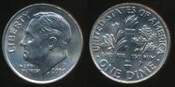 World Coins - United States, 2003-D Dime, Roosevelt - Uncirculated