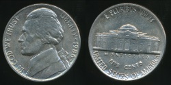 World Coins - United States, 1986-P 5 Cents, Jefferson Nickel - Uncirculated