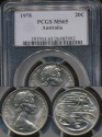 World Coins - Australia, 1975 Twenty Cents, 20c, Elizabeth II - PCGS MS65