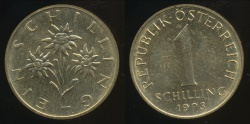 World Coins - Austria, Republic, 1993 1 Schilling - Uncirculated
