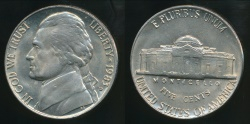 World Coins - United States, 1983-D 5 Cents, Jefferson Nickel - Uncirculated