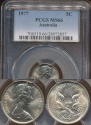 World Coins - Australia, 1977 Canberra 5 Cent, Elizabeth II - PCGS MS66