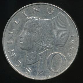World Coins - Austria, Republic, 1985 10 Schilling - Extra Fine