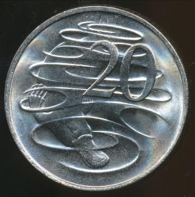 World Coins - Australia, 1981 20 Cents, Elizabeth II - Uncirculated