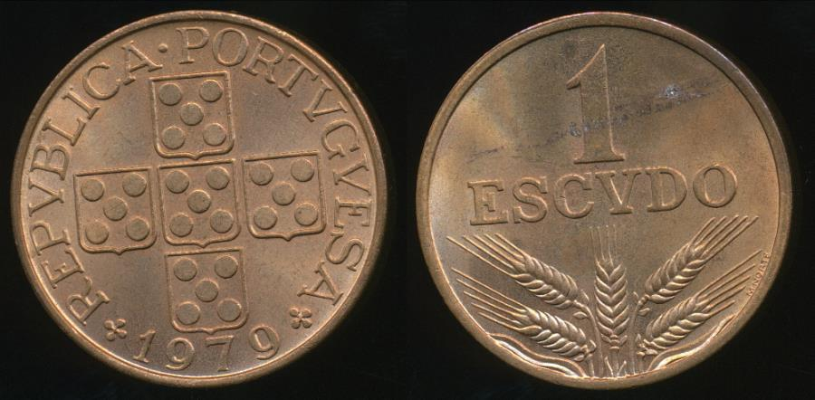 World Coins - Portugal, Republic, 1979 1 Escudo - Uncirculated